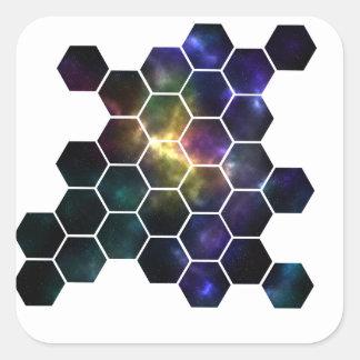Pegatina Cuadrada espacio geométrico