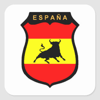 Pegatina Cuadrada España