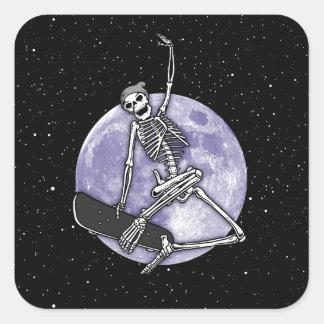 Pegatina Cuadrada Esqueleto del tablero