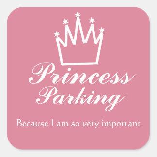 Pegatina Cuadrada Estacionamiento de la princesa