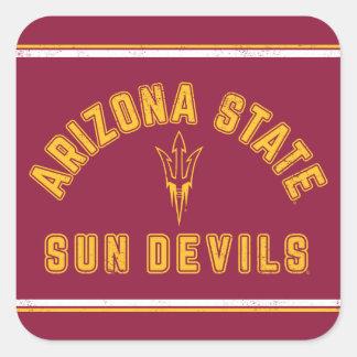 Pegatina Cuadrada Estado el | Sun Devils de Arizona - retros