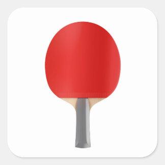Pegatina Cuadrada Estafa de tenis de mesa