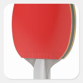 Pegatina Cuadrada Estafa del ping-pong