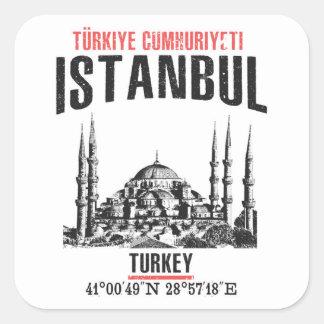 Pegatina Cuadrada Estambul