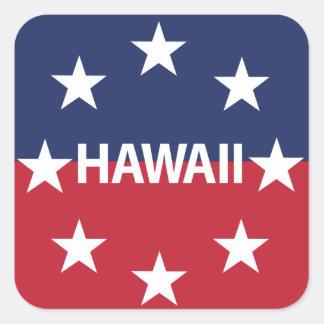 Pegatina Cuadrada Estándar del gobernador de Hawaiʻi