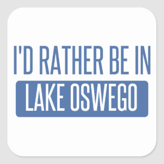 Pegatina Cuadrada Estaría bastante en el lago Oswego