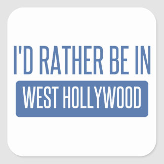 Pegatina Cuadrada Estaría bastante en Hollywood del oeste