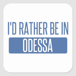 Pegatina Cuadrada Estaría bastante en Odessa