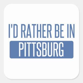 Pegatina Cuadrada Estaría bastante en Pittsburg