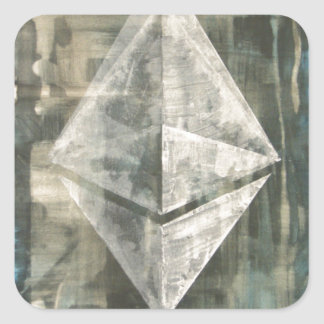 Pegatina Cuadrada Ethereum