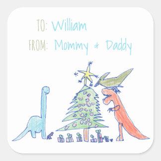 Pegatina Cuadrada Etiquetas del navidad del día de fiesta del