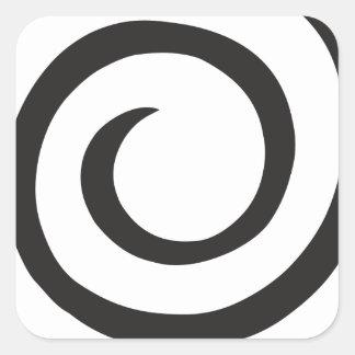 Pegatina Cuadrada Extracto espiral