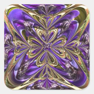Pegatina Cuadrada Extracto púrpura de la anémona