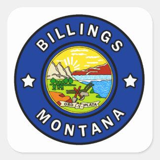Pegatina Cuadrada Facturaciones Montana