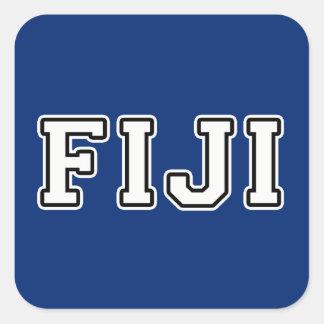 Pegatina Cuadrada Fiji