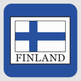 Pegatina Cuadrada Finlandia