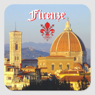 Pegatina Cuadrada Florencia - Santa María del Fiore