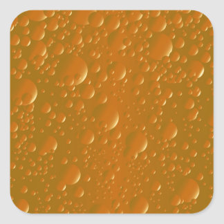 Pegatina Cuadrada Fondo anaranjado de Bibble de la sombra