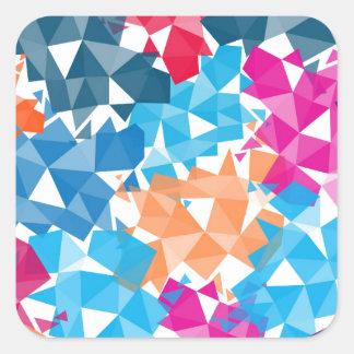 Pegatina Cuadrada Formas geométricas coloridas 3D