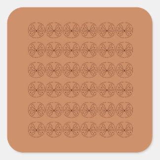 Pegatina Cuadrada Gente marrón de los elementos del diseño