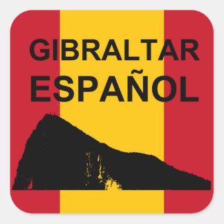 Pegatina Cuadrada Gibraltar Espanol 6