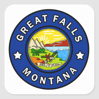 Pegatina Cuadrada Great Falls Montana