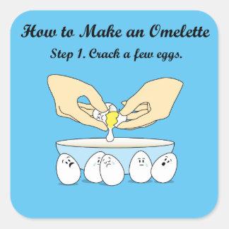 Pegatina Cuadrada Grieta-UNo-poco-Huevos