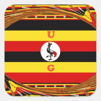 Pegatina Cuadrada Hakuna asombroso hermoso Matata Uganda precioso