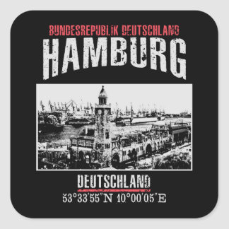 Pegatina Cuadrada Hamburgo