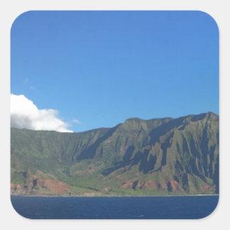 Pegatina Cuadrada Hawaii