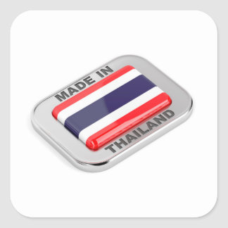 Pegatina Cuadrada Hecho en Tailandia