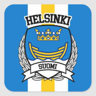 Pegatina Cuadrada Helsinki