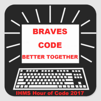 Pegatina Cuadrada Hora de IHMS del código 2017