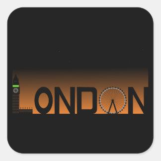 Pegatina Cuadrada Horizonte de Londres