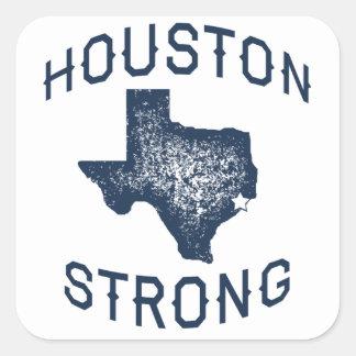 Pegatina Cuadrada Houston fuerte - Harvey