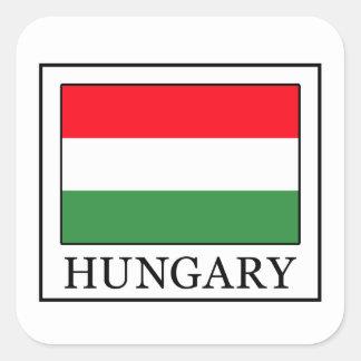 Pegatina Cuadrada Hungría