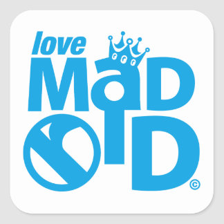 Pegatina Cuadrada I Love Madrid Crown & Sign ED.