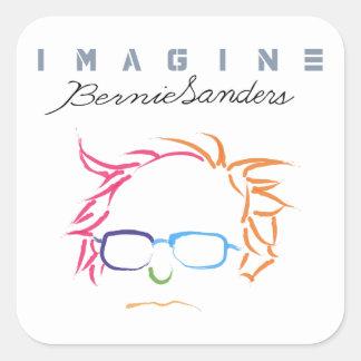 Pegatina Cuadrada Imagínese las chorreadoras de Bernie