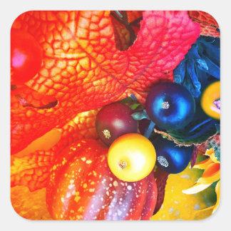 Pegatina Cuadrada impresión del otoño