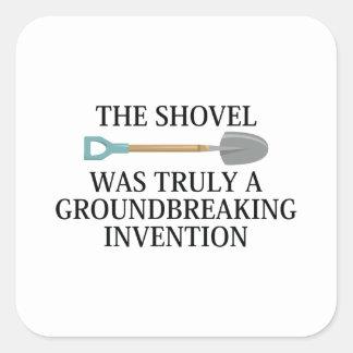 Pegatina Cuadrada Invención innovadora