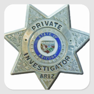 Pegatina Cuadrada Investigador privado de Arizona