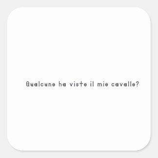 Pegatina Cuadrada Italiano-Caballo