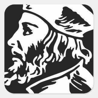 Pegatina Cuadrada Jan Hus