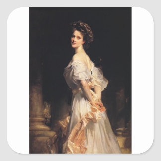 Pegatina Cuadrada John Singer Sargent - Nancy Astor