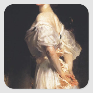 Pegatina Cuadrada John Singer Sargent - Nancy Astor - bella arte
