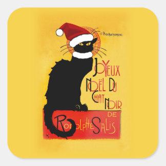 Pegatina Cuadrada Joyeux Noël Du Chat Noir