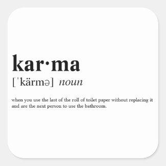 Pegatina Cuadrada Karmas