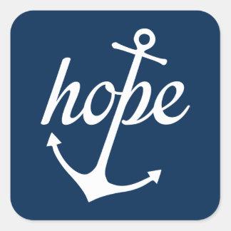 Pegatina Cuadrada La esperanza ancla el alma (el 6:19 de los