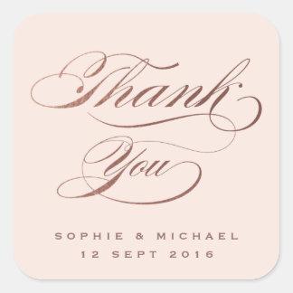 Pegatinas de agradecimiento de boda