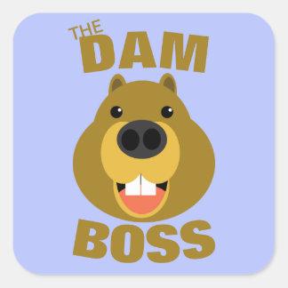 Pegatina Cuadrada La presa Boss